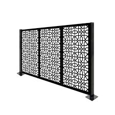Porpora 4 Ft H X 6 Ft W Circle Knot Metal Fence Panel Wayfair Ca