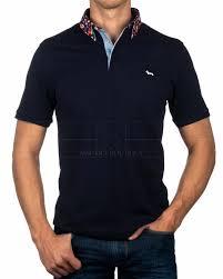 Navy Blue HARMONT & BLAINE © Polo Shirt ✶ Fiori