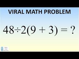 a viral math problem with 2 answers is