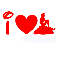 2020 Wholesale Imagine A Romantic Love Story I Love Ariel Little Mermaid Funny Car Sticker Motorhome Truck Window Car Cover Vinyl Decal From Bulangying 16 09 Dhgate Com