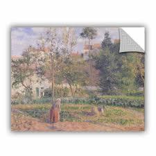 Artwall Bridgeman Camille Pissarro Vegetable Garden Wall Decal Wayfair