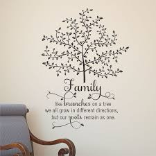 Wall Quote Decal Family Tree With Roots Branches Home Wall Art Etsy Wall Quotes Tree Quotes Wall Quotes Decals