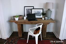 barn wood desk navajo rug
