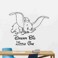 5 5 9 Disney Dumbo Elephant Wall Sticker Glossy Cut Out Border Character Home Garden Decor Decals Stickers Vinyl Art