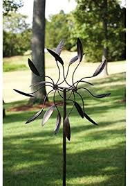 metal outdoor garden art wind spinner