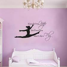 Gymnast Vinyl Wall Art Sticker Decal Gymnastic Quote Wall Decals Mural Girls Bedroom Decoration Wall Stickers Aliexpress