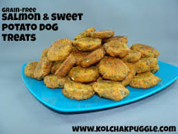 sweet potato salmon bites dog treat
