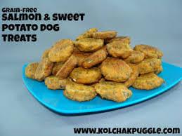 sweet potato salmon bites dog treat
