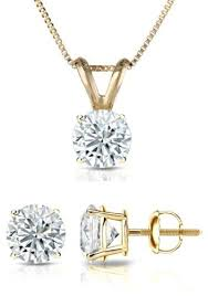 round diamond pendant stud set prime