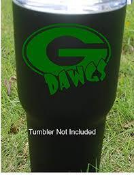 Amazon Com Classy Vinyl Creations Georgia Dawgs Decal G Georgia Bulldogs Decal Uga Decals Georgia Bulldogs Yeti Sticker Yeti Cup Decal Car Decal Aptop Decal Bumper Sticker 3 8 X 3 5 Green Automotive