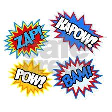 Hero Pow Bam Zap Bursts Wall Decal By Whimsical Troll Cafepress