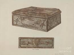 Pa. German Bridal Box Drawing by Adele Brooks