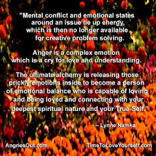 mental conflict and emotional states around an issue tie up energy