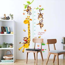 Growth Chart For Kids Wall Sticker Decal Height Room Nursery Decor Measure Sl