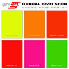 Oracal 6510 Fluorescent Vinyl Sheets Milansignsupply