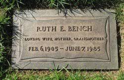 Ruth Myrtle Evans Bench (1905-1985) - Find A Grave Memorial