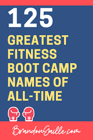 catchy fitness boot c cl names