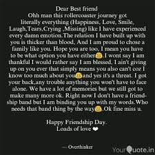 dear best friend ohh man quotes writings by dheeraj
