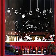 41 Off 2020 Christmas Snow Hut Glass Window Removable Wall Stickers In Red White Dresslily