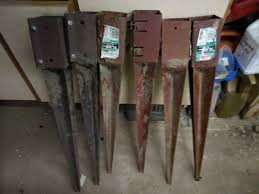 Used Fence Post Spikes X 6 75mm 3 Inch In Huntington North Yorkshire Gumtree