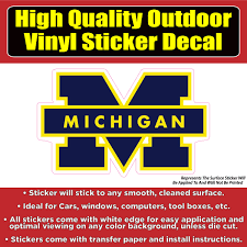 Michigan Wolverines University Vinyl Car Window Laptop Bumper Sticker Colorado Sticker