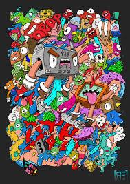 doodle art monster wallpaper hd 12