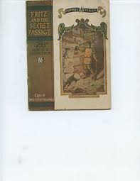 "1913 ""FRITZ AND THE SECRET PASSAGE"" BOOK BY ADELE THOMPSON (15 ..."
