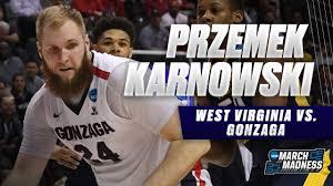Przemek Karnowski helps Gonzaga defeat West Virginia in Sweet 16 - YouTube