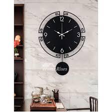black pendulum wall clock 20 inch