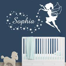 Fairy Custom Name Wall Decal Sticker Little Angel Stars Personalized Baby Name Stickers For Nursery Kids Room Bedroom Decoration Decorative Wall Decals Decorative Wall Decals Removable From Onlinegame 11 58 Dhgate Com