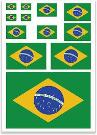 Amazon Com Jbcd Brazil Flags Vinyl Decal Brazilian Patriotic Flag Stickers Car Truck Window Decal Pride Decorations Bumper Sticker Uv Resistant Weatherproof For Parties Sport Events Celebrations Kitchen Dining