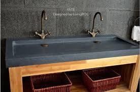 trendy gray granite bathroom vessel