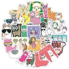 100 Pcs Llama Alpaca Cute Sticker Kawaii Cartoon Camel Sheep Animal Stickers For Kids Reward Stickers Scrapbooking Bike Car Decal Wish
