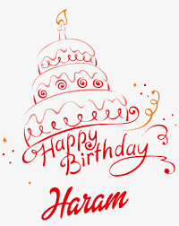 happy birthday cake with name haram png