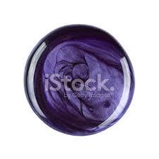 swirl of purple nail polish overhead