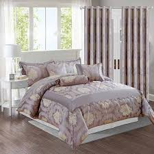 mauve bedding set and matching curtains