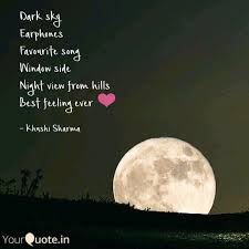 dark sky earphones favour quotes writings by khushi sharma