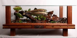 habitat coffee table fish taxidermy
