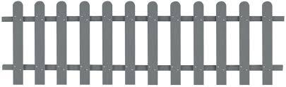 Festnight Plastic Garden Picket Fence Panels 200x60 Cm Grey Amazon Co Uk Garden Outdoors