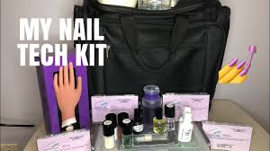 what s in my nail tech kit 2018