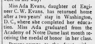Ada Evans - Graduation from Academy of Notre Dame - Newspapers.com