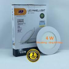 Đèn LED Âm Trần 3 Màu 4w Tròn Siêu Mỏng Tiết Kiệm Điện Năng