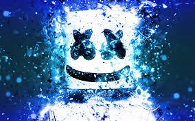 marshmello 4k neon blu american dj