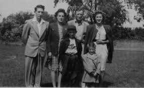 Clare and Elsie Harrison family in 1942