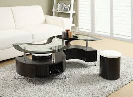 contemporary coffee table with glass