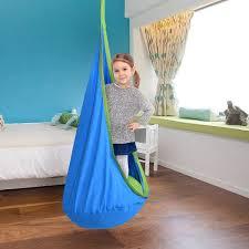 Shop Costway Child Pod Swing Chair Tent Nook Indoor Outdoor Hanging Seat Hammock Kids Overstock 15954938