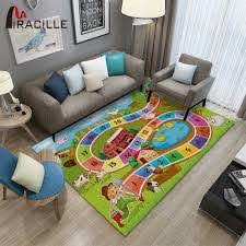 Miracille Children Game Carpet For Livingroom Large Size Cartoon Kid Play Mat Anti Slip Printing Rug Bedroom Decor Carpet Aliexpress
