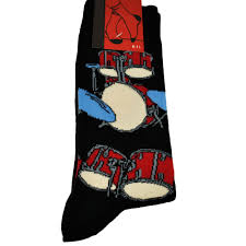 drums black men s novelty socks from