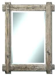 driftwood mirror framed small gray