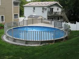 Sharkline Semi In Ground Pool With Fencing Above Ground Pool Fence In Ground Pools Backyard Pool